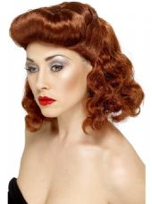 1940's Pin-Up Girl Wig In Auburn